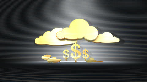 Cloud banking concept animation Animation