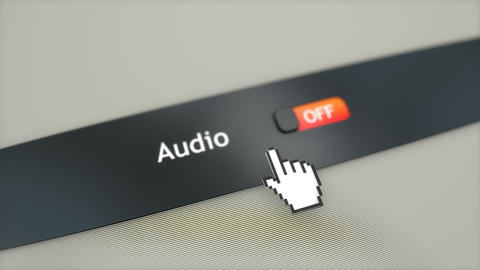 Application setting Audio Stock Video Footage