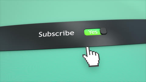 Application setting Subscribe Stock Video Footage