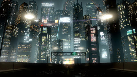 Fantastic night city light show Footage
