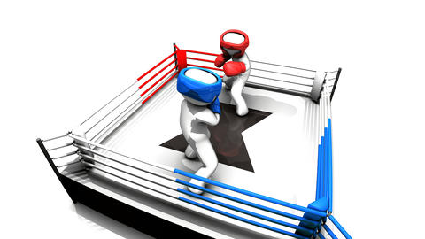 Boxing match concept animation, Stock Animation