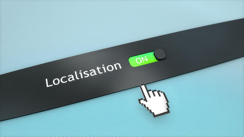 Application setting Localisation Stock Video Footage