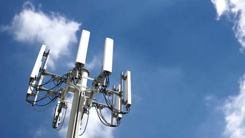 Cell tower, Mobile telecommunication tower Stock Video Footage