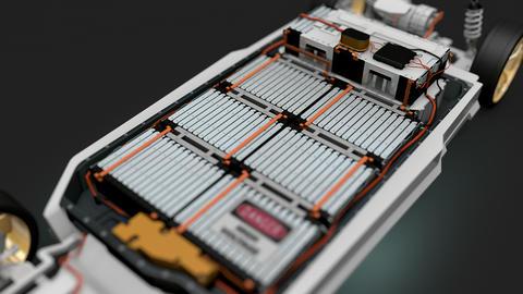 Artist rendering EV battery pack Animation