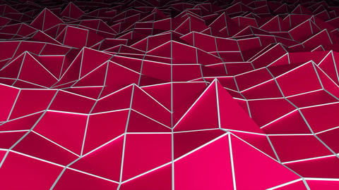 Low polygonal surface, computer generated modern abstract background, 3d render Footage