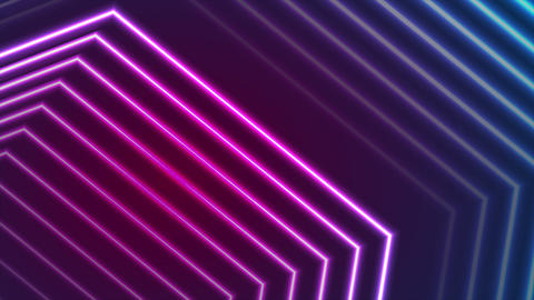 Blue ultraviolet neon laser beam lines video animation Animation