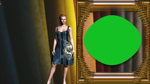 08 Animated cartoon model green screen background Animation