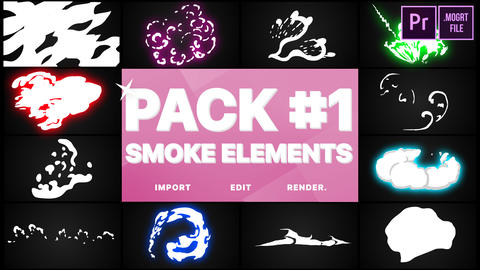 Smoke Elements Pack 01 Motion Graphics Template