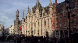 Belgium Bruges Provincial Court on market at Christmas time GIF