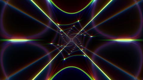 Hexagon Neon VJ Loop 03 - 4K Animation