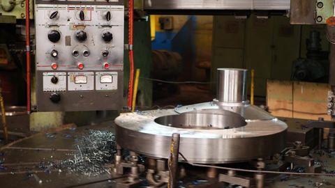 Control panel cnc machine of high precision machining metal at factory Live Action