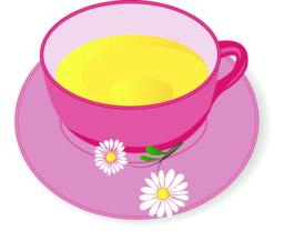 Cup of Chamomile tea vector illustration Vector