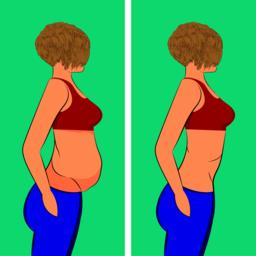 Fat and slim girl before and after Vector