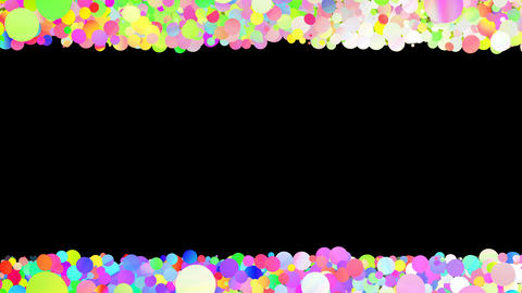 Glitter Circle Frame 3 Sc Colorful 4k Animation