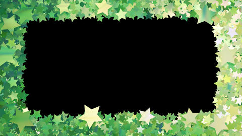 Glitter Star Frame 3 Bs Green 4k Animation