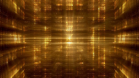 Abstract Golden Lights Background Animation