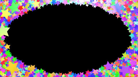 Glitter Star Frame 3 Ds Colorful 4k Animation