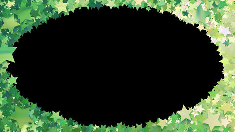 Glitter Star Frame 3 Ds Green 4k Animation