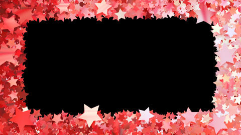 Glitter Star Frame 3 Bs Red 4k Animation