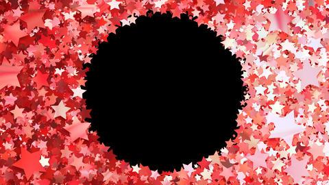 Glitter Star Frame 3 Cs Red 4k Animation