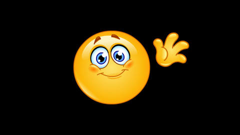 Waving hello emoticon animation Animation