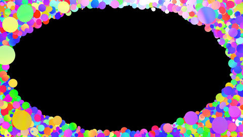Glitter Circle Frame 3 Dc Colorful 4k Animation