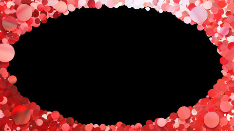 Glitter Circle Frame 3 Dc Red 4k Animation