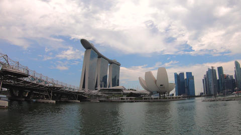 Time lapse of the Singapore city skyline Footage