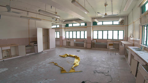 Abandoned School - Destroyed Classroom 06 Footage