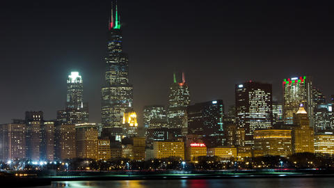 Night time lapse of Chicago Footage