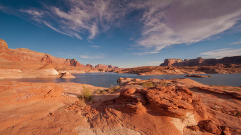 Timelapse over Lake Powell at Sunset Footage
