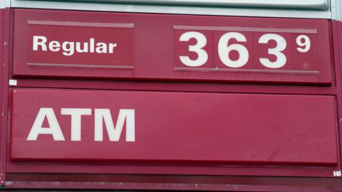 Billboard gas price sign. $3.63 Footage