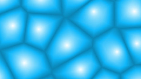 Abstract Blue Cells Shifting Shapes Animation