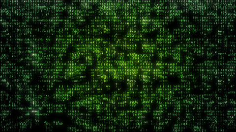 Green Matrix Code Falling in black backdrop Animation