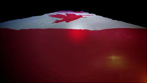 Slanted Canadian Banner Moving Up Animation