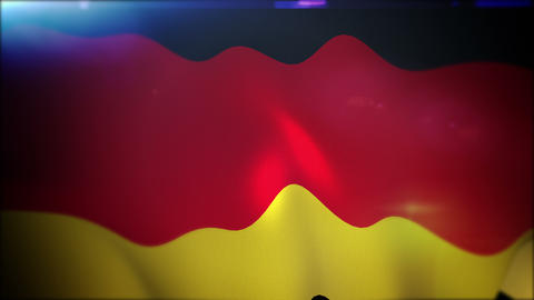 Waving German Banner in Slow Motion Animation