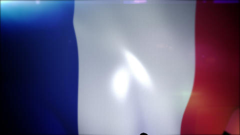 Cheerfully Flapping French Banner Animation