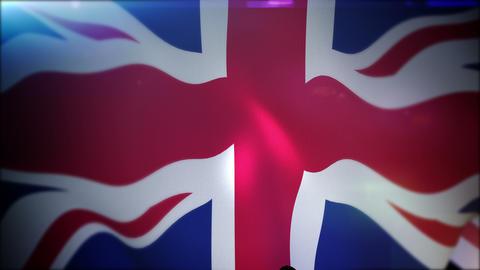 Energetically Flapping British Union Jack Animation