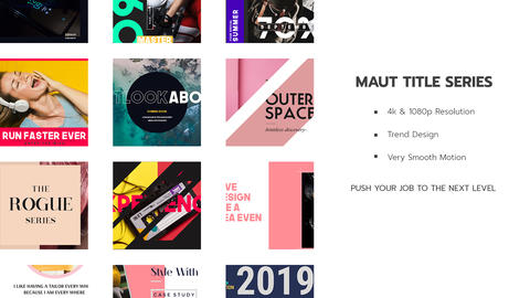 Neo Maut Title Series V I After Effects Template