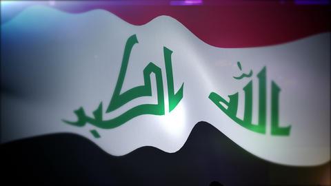 Optimistically Flapping Flag of Iraq Animation
