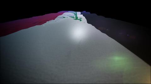 Jolly Rising Up Flag of Iraq CG動画