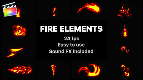 Flash FX Fire Elements Apple Motion Template