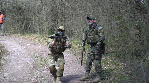 special forces soldiers seal team in action Live Action