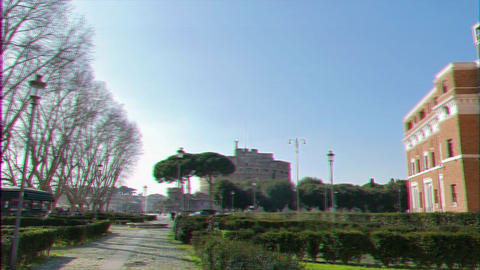 Glitch effect. Castle of San Angelo. Rome, ItalyCastle San Angelo. Rome, Italy Live Action