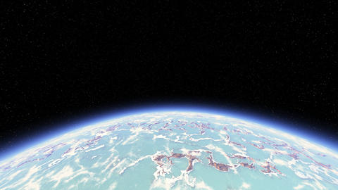 3D rendered background of planet from space Animación