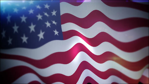 Cheerfully Flapping Banner of the USA CG動画