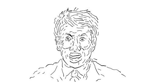 Head of Businessman Exploding Drawing 2D Animation CG動画素材