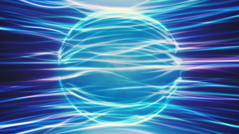 Blue Energy Sphere Background Animation