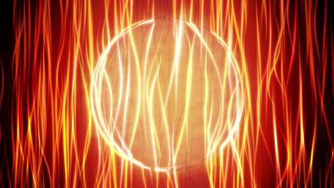 Orange Energy Sphere Looping Background Animation