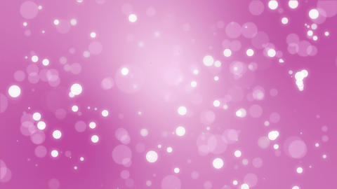 Glowing pink bokeh particle background Animation